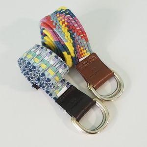 Two Eddie Bauer Multicolor S/M Belts. N665